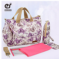 ECOSUSI 2016 Baby Bag Cotten Nappy Bag  5pcs/set Multifunction Pregnant Women Diaper Bag  Should Bag For Women And Baby