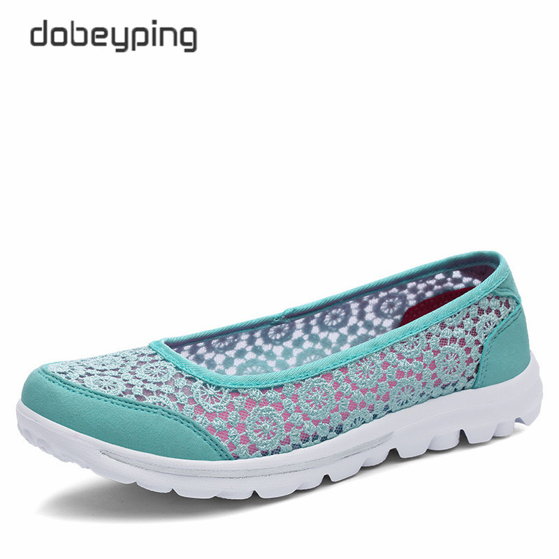 Image 4 - 新しい女性のカジュアルシューズファッションレース女性ローファースリップオン女性の靴超軽量母履物ソフトレディース夏靴women casual shoesfemale shoeswomen loafers -