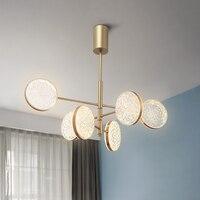 Modern Diamond Acrylic Shade Led Chandelier Lighting Living Room Gold Metal Led Pendant Chandeliers Lights Bedroom Hanging Lamp