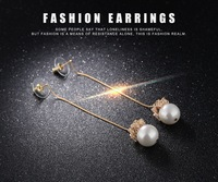 Hot Sales Luxury Pearls Earring Silver Plated Stud Earrings For Women Fashion Jewelry Charm Vintage Design