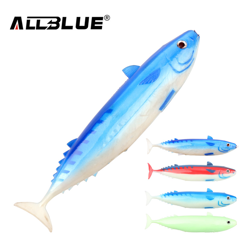 ALLBLUE Ocean Boat Tuna Trolling Fishing Lure 21cm 135g Luminous Spanish Mackerel Big Game Rubber Soft Lure Coat Fishing Tackle lucky john croco spoon big game mission 24гр 004