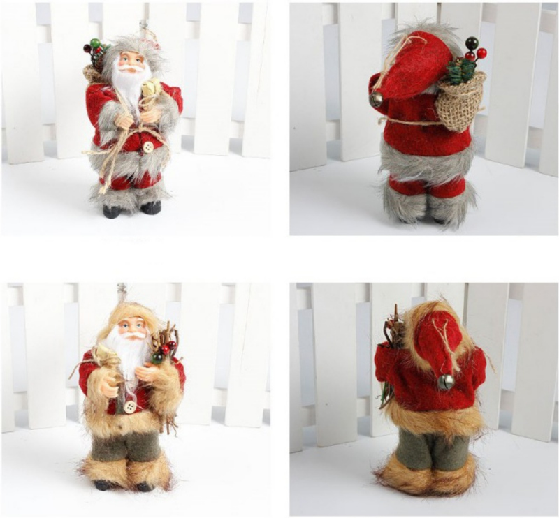 2017 Christmas Santa Claus Doll Toy Christmas Tree Hanging Ornaments Decoration Exquisite For Home Xmas Happy New Year New