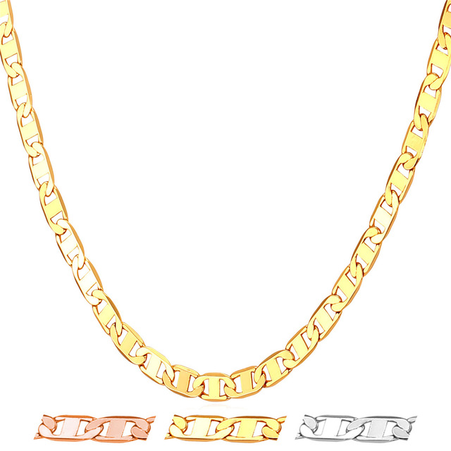 necklace mariner chains gold chain laminado rossi orolaminado plated oro products raf goldplated