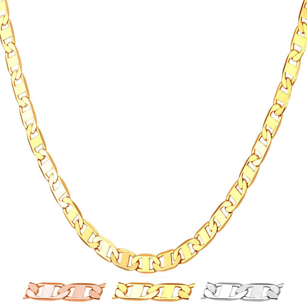 Kpop 2016 Ý Mariner Chain Necklace Mens Jewelry Vàng/Vàng Hồng/Vòng Cổ Màu Bạc Chains For Men/phụ nữ N615