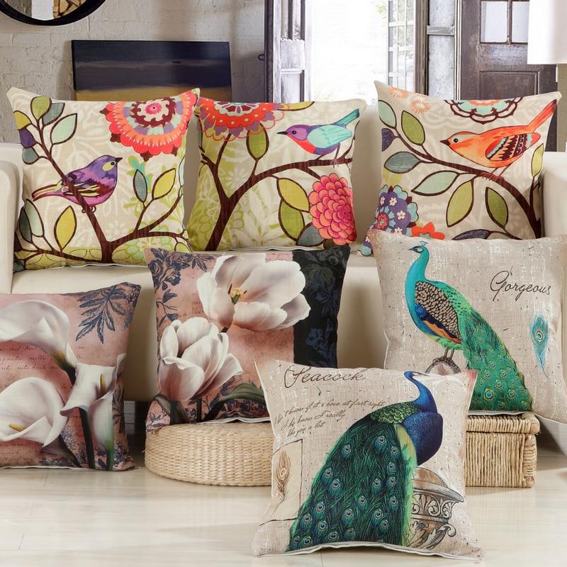 New Arrival European Cushion C Home Car Throw Pillows Cases Cotton and Linen Pillows Decorative Throw Pillowcase