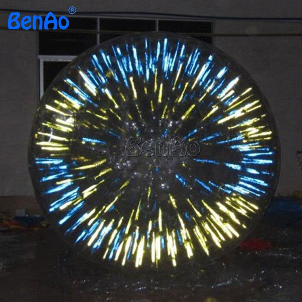 Zb02 benao Новый 2.6 м 1.0 мм Китай Лидер продаж ПВХ или ТПУ Сияющий земли zorb Футбол с комплектом для ремонта