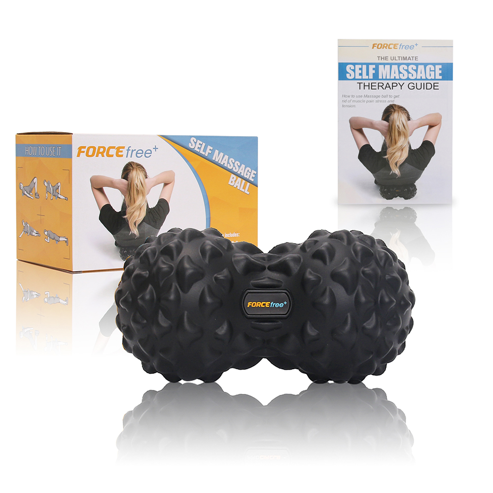 Forcefree+ PU Fitness Ball Therapy Massage Balls Peanut Lacrosse Mobility