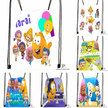 Custom Bubble Guppies  2 Drawstring Backpack Bag Cute Daypack Kids Satchel  (Black Back) 9a7f085d641d9