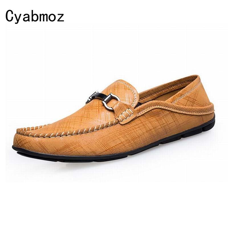 Plaid Genuine Leather Men Shoes Luxury Brand Casual Shoes Lazy Slip-On Zapatos Hombre Fashion Flats Loafers Oxfords Moccasins fashion nature leather men casual shoes light breathable flats shoes slip on walking driving loafers zapatos hombre