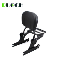 RUOCH Sissy Bar for Harley Softail Fat Boy FXST  Adjustable Detachable Backrest W/ Luggage Rack 2000-2006 Motorcycle Accessories