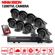 8CH AHD 1080N DVR CCTV Security Camera System 1200TVL Outdoor Day Night IR waterproof Camera Kit Video Surveillance System