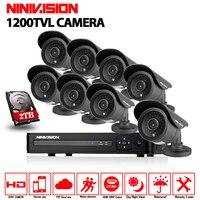 8ch AHD 1080n видеорегистратор CCTV Камера Системы 1200tvl Открытый День Ночь ИК Водонепроницаемый Камера комплект Товары теле и видеонаблюдения Сис