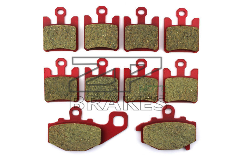 Brake Pads Ceramic Front + Rear For KAWASAKI ZX-10 R (ZX 1000 C1/C2/D6F/D7F) 2004-2006 OEM New High Quality ZPMOTO motorcycle brake pads ceramic composite for triumph 800 tiger 2011 2014 front rear oem new high quality zpmoto