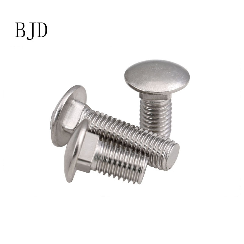 10pcs 8mm M8 A2 STAINLESS STEEL COACH BOLTS CUP SQUARE CARRIAGE BOLT SCREWS DIN 603