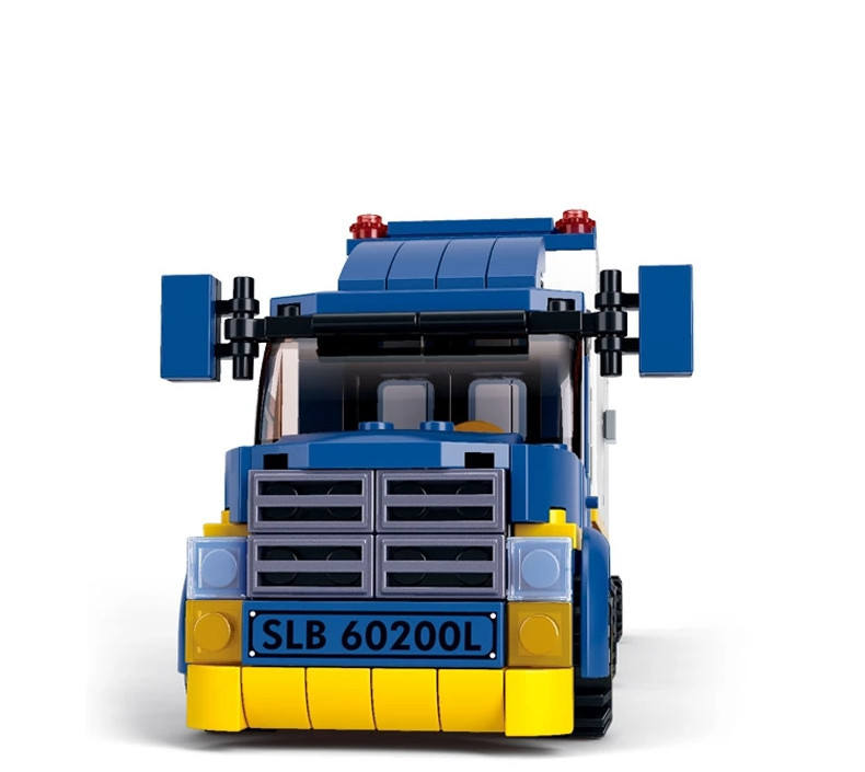 Sluban 537pcs Container Cargo Team Truck Gas Station Sets