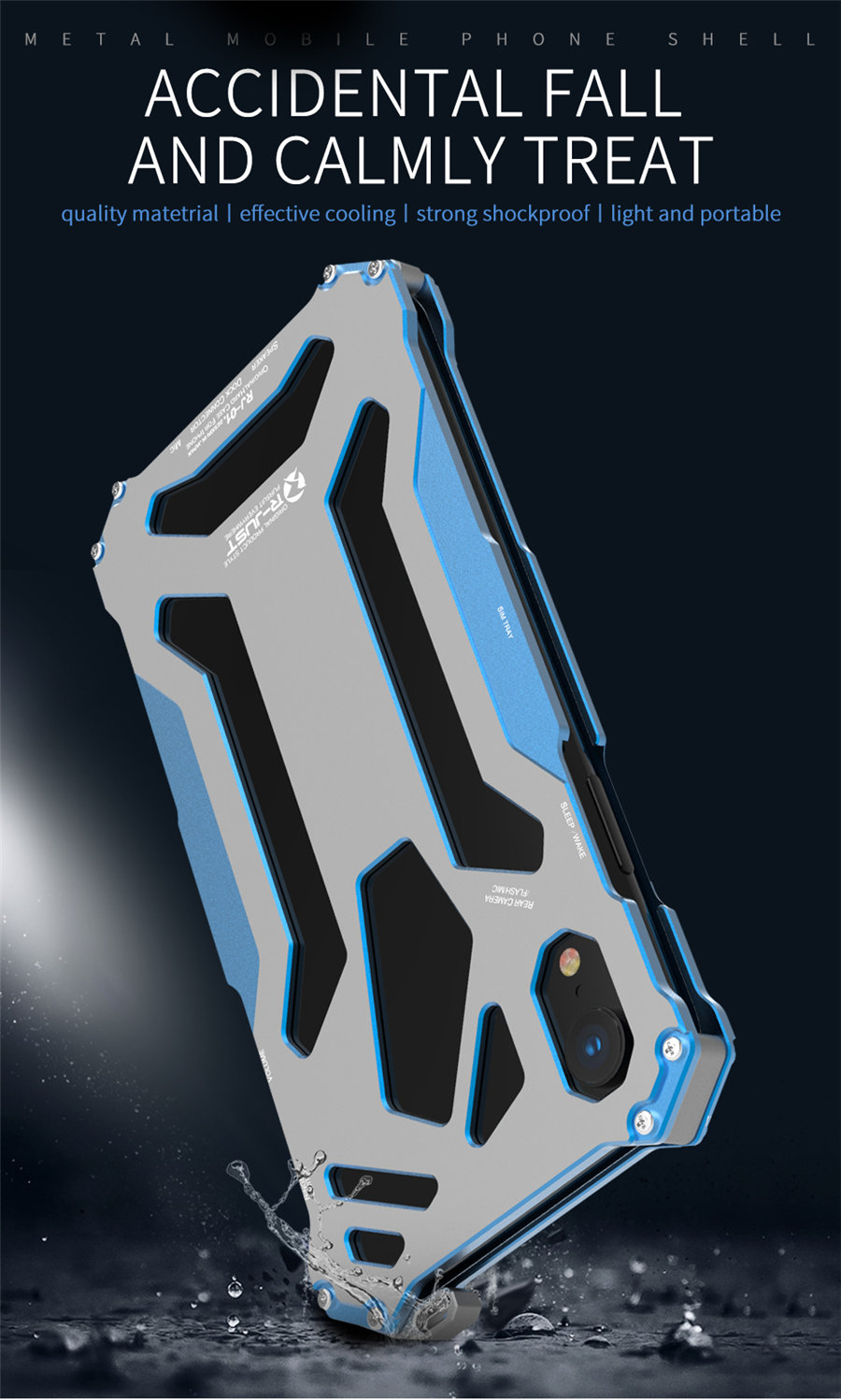 Cool Metal Phone Case For iPhone XS Max Case Cover For iPhone XS R-JUST Gundam Aluminum Case Coque Capa Funda For iPhone XR (2)