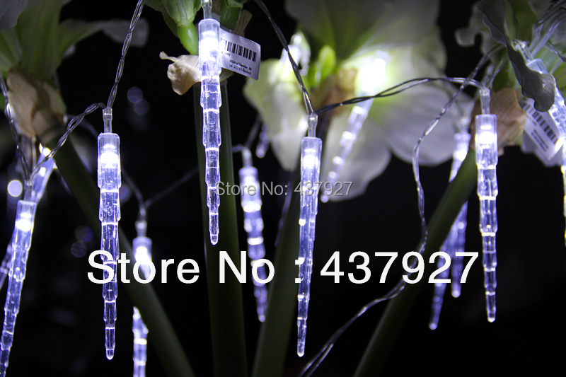 free buy m led clear white dripping icicle shape christmas lights string lights christmas party decoration rope from reliable christmas with led dripping - Led Dripping Icicle Christmas Lights