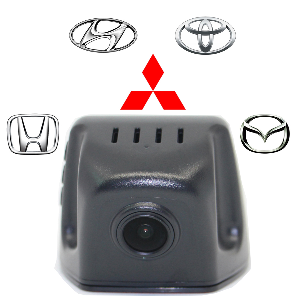 Full HD1080P CAR HIDDEN DVR170 Degrees Night Vision Wide Angle Android Ios Built in Wifi APP