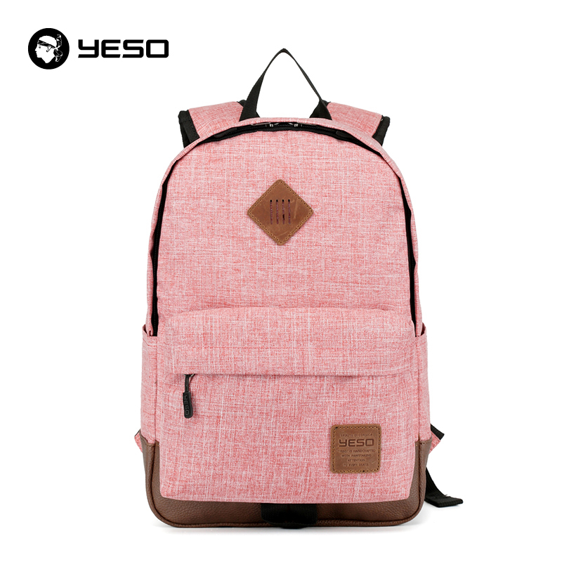 YESO New Backpack Women Preppy School Bags For Teenagers Oxford 14 15.6 inch School Backpack Large Capacity Backpacks For Girls