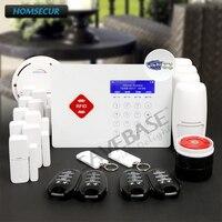 HOMSECUR App контролируемых Беспроводной GSM охранная RFID сигнализация Системы с удобное меню + RU локальной доставки