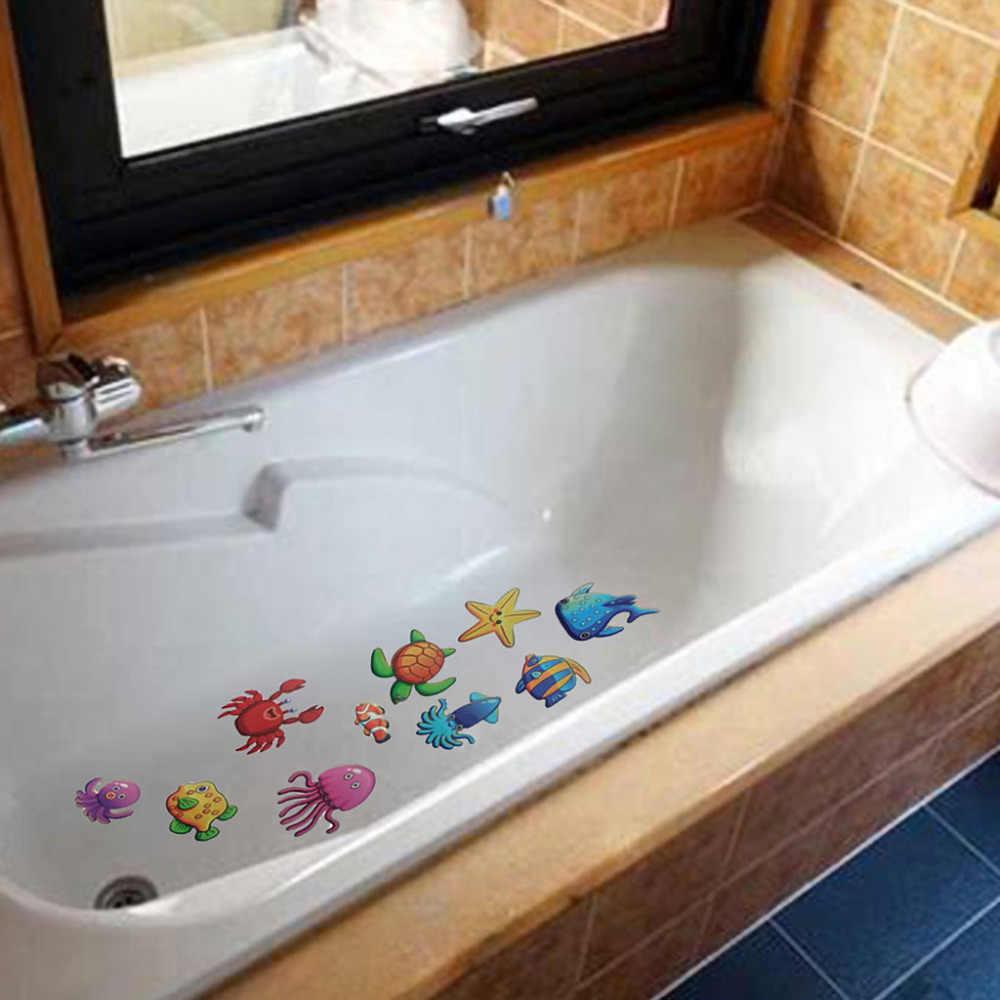10 pcs Chống Trượt Bath Mat Grip Không Trượt Vòi Hoa Sen Dải Sàn An Toàn Băng Mat Pad PVC Chống Trượt phòng tắm Mat # F