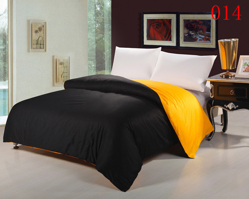 Black And Yellow Comforter Queen: Black Yellow Bedroom Home Textiles Cotton Duvet Cover