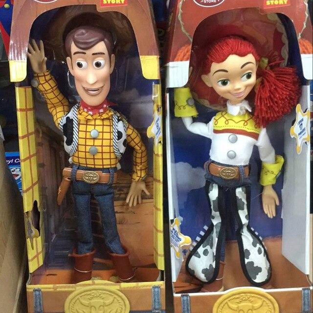 Woody Jessie Talking Toy Story Figuras de Acción DEL PVC Colección Modelo  de Juguete Muñeca de d2349b79e73