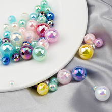 цены 4/6/8/10mm Round ABS Imitation Pearl Beads Mixcolor With Straight Hole For Handmade DIY Bracelet Jewelry Accessories 100-500PCS