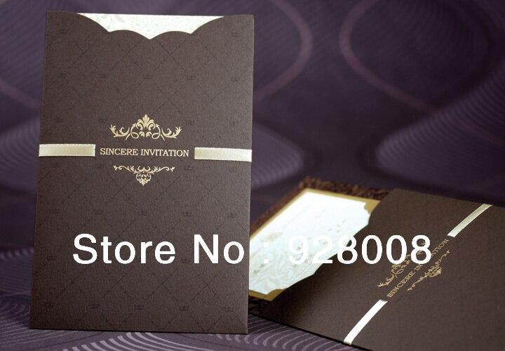50pcs Free Shipping Business Invitation Cards Wedding