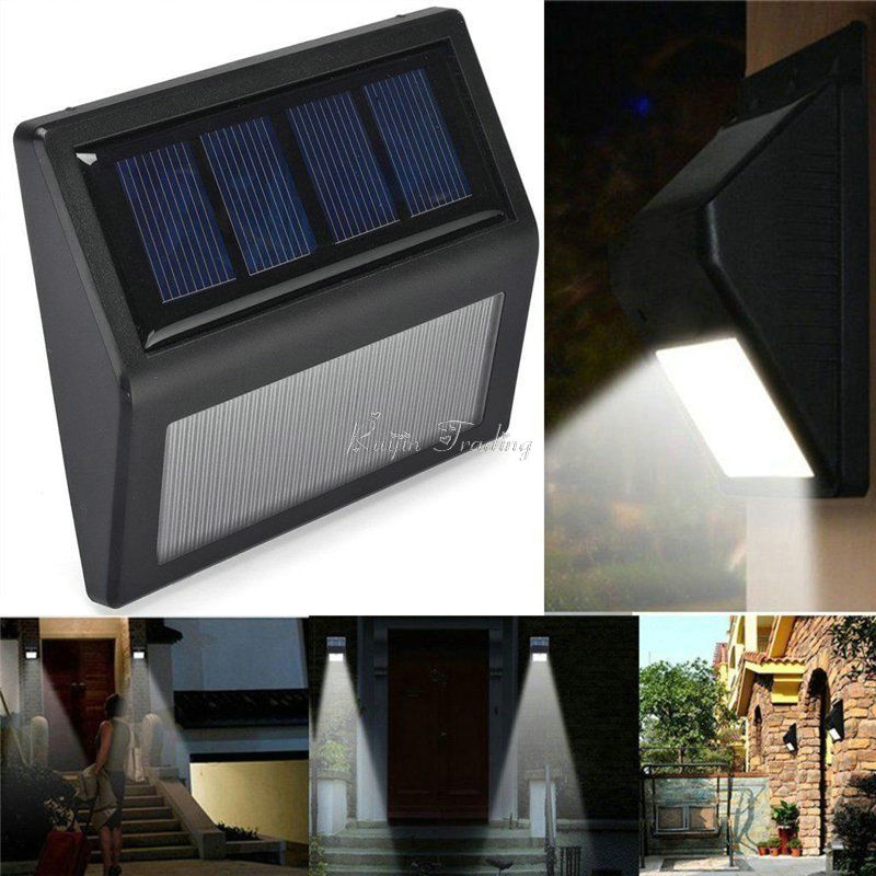 waterproof 6 led solar powered wall mount night light control wireless light sensor outdoor yard. Black Bedroom Furniture Sets. Home Design Ideas