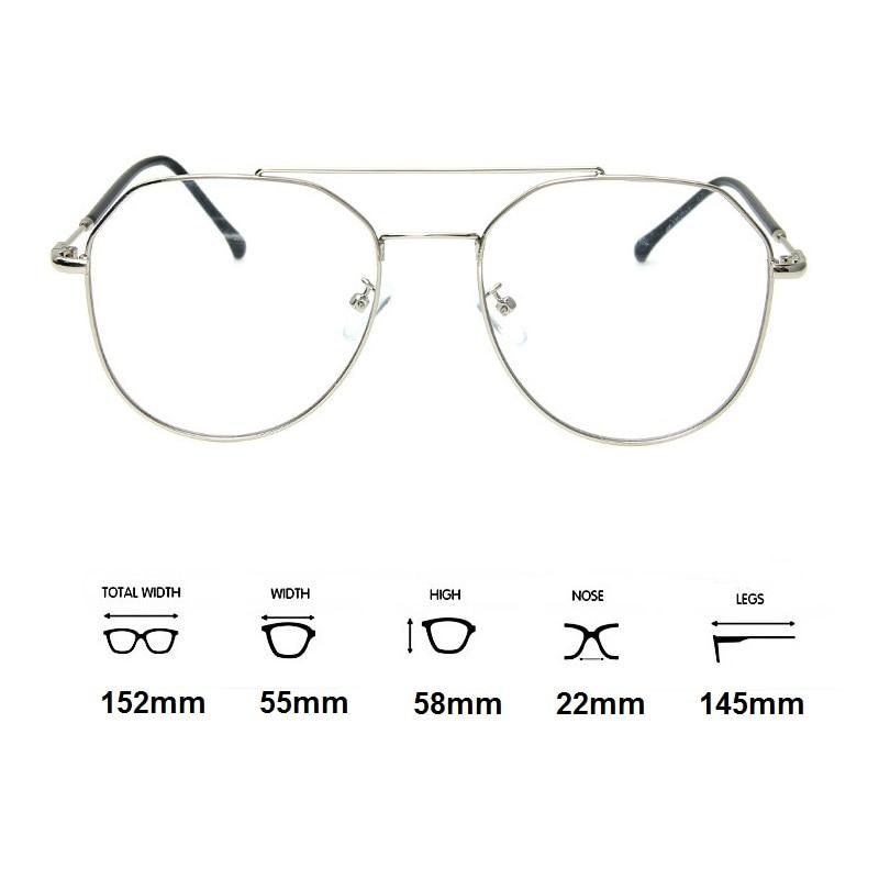 Brillen Dioptrien gold 67 56 1 silber Frauen Myopie 61 Schwarzes Frau 1 Progressive Männer Photochrome Vazrobe 152mm 1 Übergroßen xpq17wt
