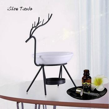 Креативная масляная горелка оленя из нержавеющей стали, горелка оленя, свеча, ароматерапия, масляная лампа, украшения, арома Furna, горелка для гостиной