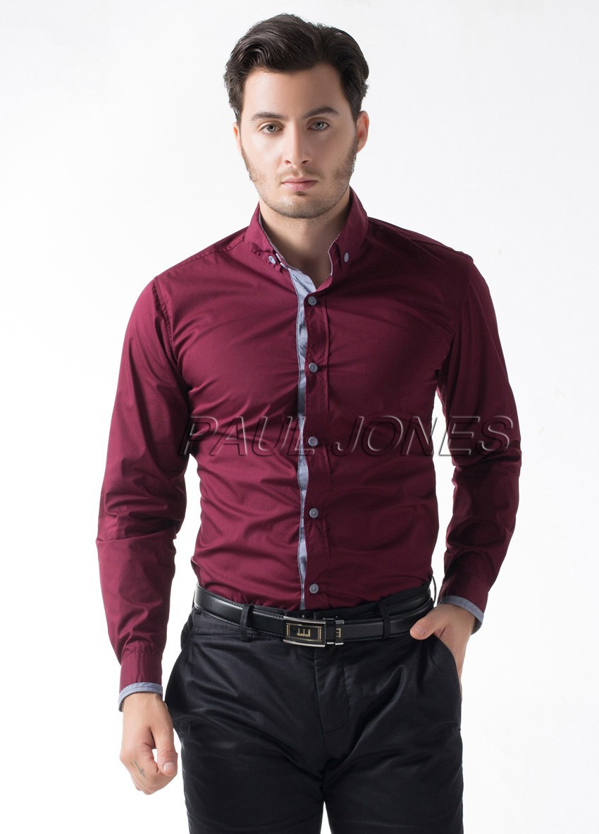 55ad2102070 Famous Brand British Style Slim Fit Stylish Male Shirt Top Quality Long  Sleeve Business Casual Mens Shirts Men s Clothing Shirt