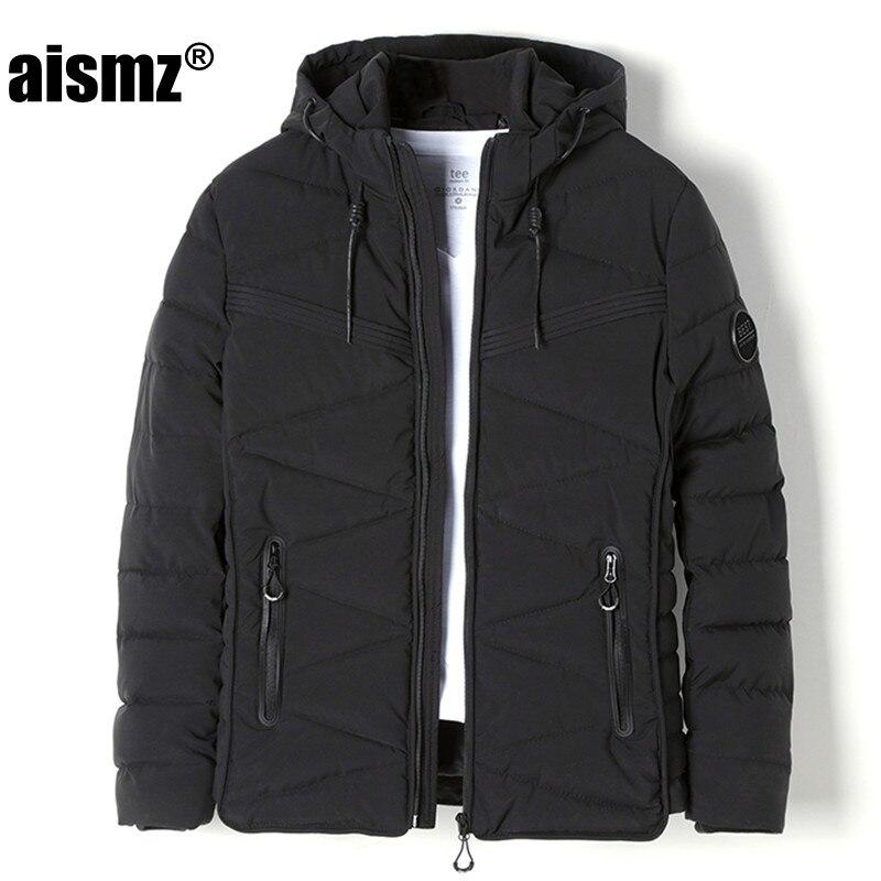 Aismz Winter Jacket Men Parkas Thicken Casual Warm Coat Men s Outwear Parka Plus size 3XL