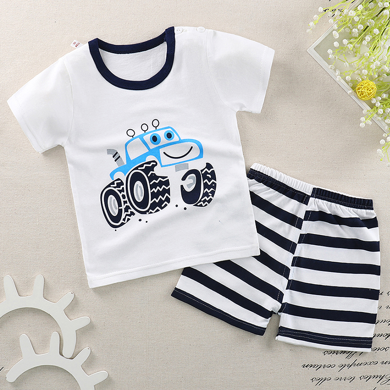 2pcs Baby Boy Outfit Set Summer 2018 Cute Newborn Baby Sets Infant Girl Clothing Suits Short Sleeve Cotton Toddler Baby girl Set summer 2017 newborn baby boy clothes short sleeve cotton t shirt tops geometric pant 2pcs outfit toddler baby girl clothing set