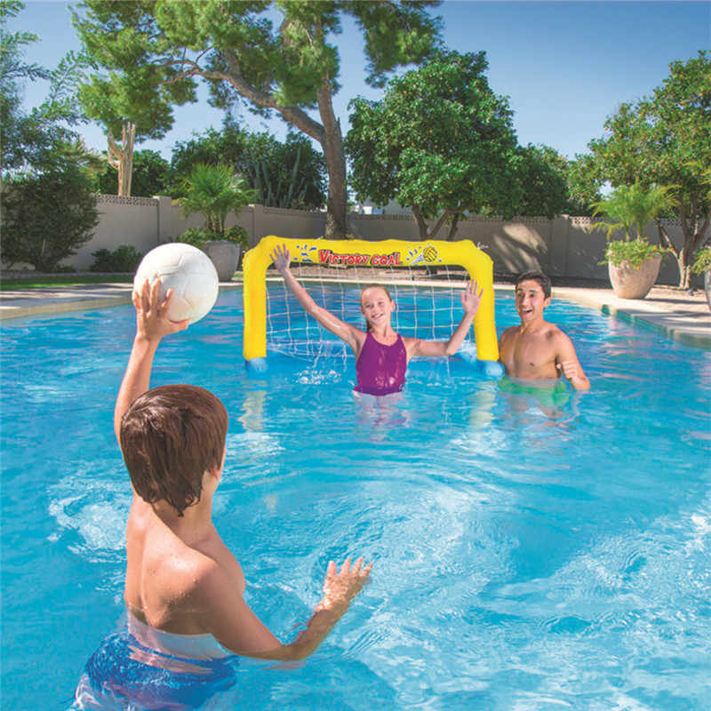 Inflatable Floating Football Goal Basketball Game Water Sports Swim Pool  Float Party Game Inflatable Swim Pool for Adults Kids