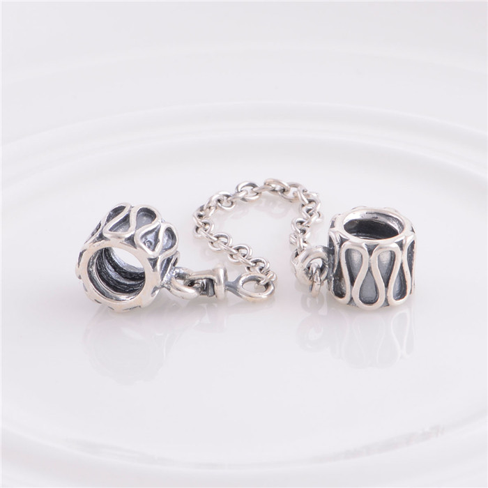 What Jewelry Store Sells Pandora: 1pcs/lot 100% 925 Sterling Silver Safety Chain Charms