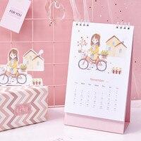 Coloffice 2019 стол для ПК календарь оригинальная ручная роспись Иллюстрация стиль небольшой свежий план книга офисные школьные принадлежности 1 ...