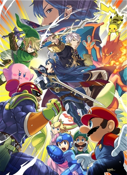Super Smash Bros 4 SSB4 Wii U 3DS Wallpapers Custom Canvas Posters Super Mario Game Stickers