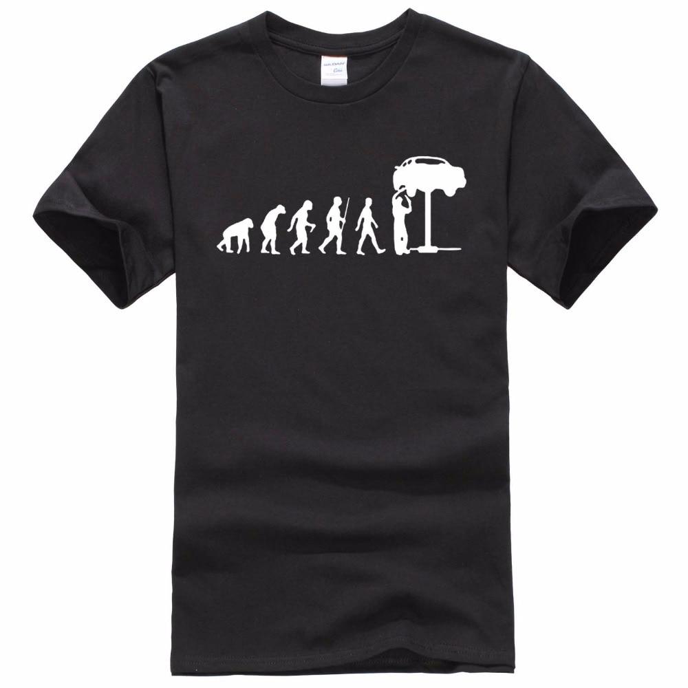 Summer Style Evolution Auto Mechaniker Mechanic Car   T  -  Shirt   Tops Funny Gift   T     Shirt   For Men Tee