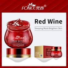 лучшая цена Korean Skin Care Red Wine Sleeping Face Cream Moisturizing Gel Night Mask Anti Wrinkle Aging Nutrition Brighten Skin Care