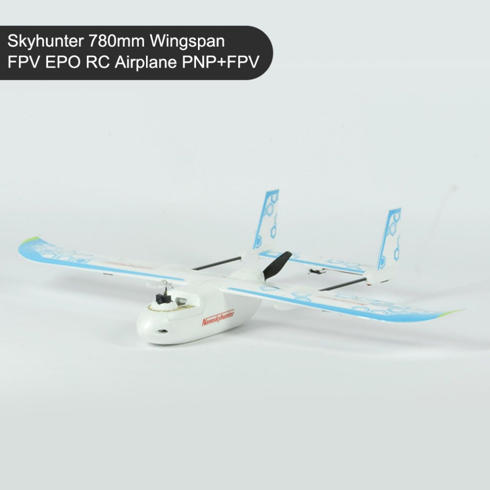 Skyhunter 780mm Wingspan FPV EPO RC Airplane PNP AIO Camera & 5.8G 200mW Vtx Detachable Quick-Release Structure x uav mini talon epo 1300mm wingspan v tail fpv rc model radio remote control airplane aircraft kit