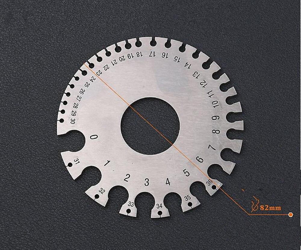 High precision Stainless steel US Standard Wire gauge Wire Diameter ...