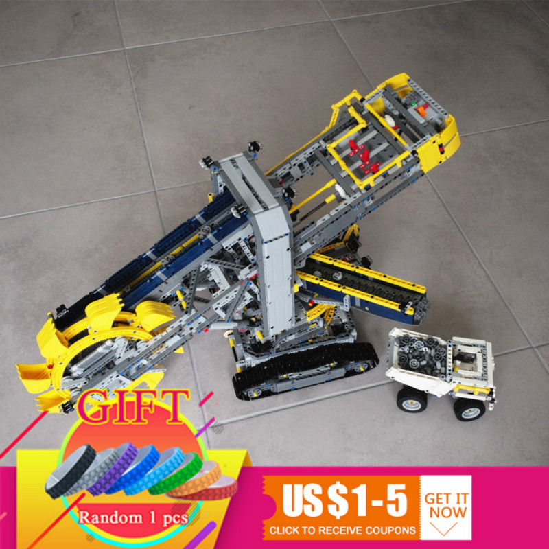 20015 3929pcs Technical series Bucket wheel excavator Model Building Compatible with 42055 toys lepin