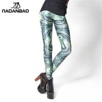 Drop Shipping Brand New Dollar 3D Digital Print OEM Custom Ladies Leggings Pencil Skinny Pants DK123
