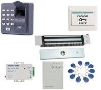 Impressão digital RFID teclado 10 tags dooorbell flush mount 180 kg 12 V Embutido escondido kit Eletromagnética Fechadura Magnética Elétrica|Kits de controle de acesso| |  -