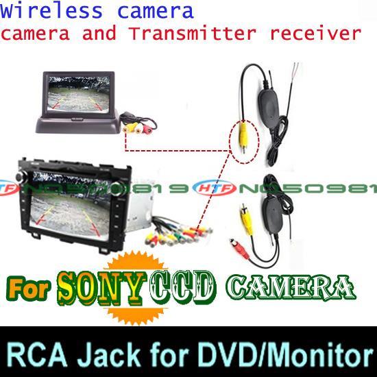 Проволочная Беспроводная Автомобильная камера заднего вида для парковки широкий anlge для sony ccd Mitsubishi Pajero ZINGER/V3/V93/V6/V8/97 - Название цвета: sonyccd wireless DVD