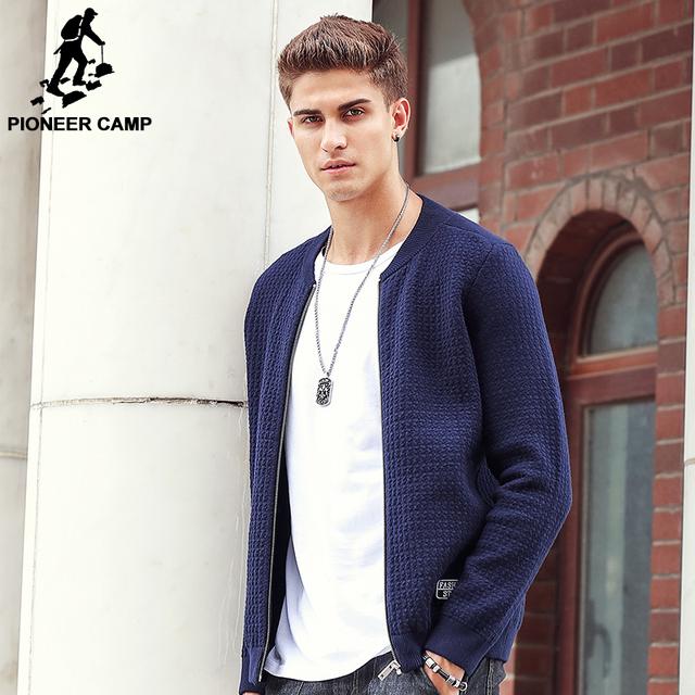Pioneer camp nova chegada grosso homens cardigans camisola homens famosa marca de vestuário masculino casual moda blusas com zíper 611212