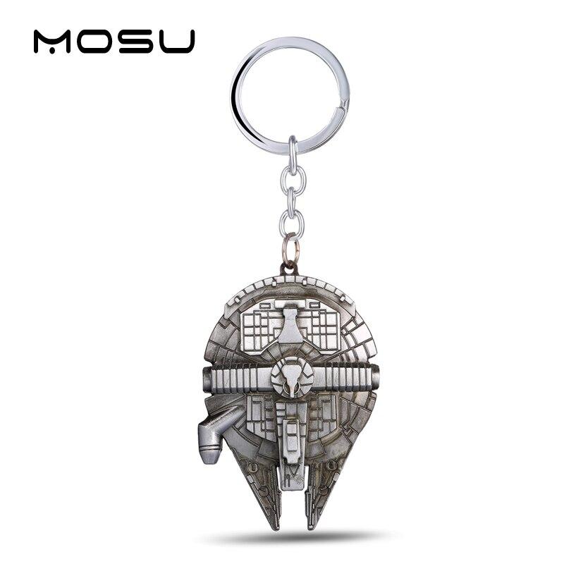 MOSU Hot movie Star Wars Millennium Falcon Keychain Alloy spaceship Metal Key Rings For Women&Men Chaveiro can Drop-shipping