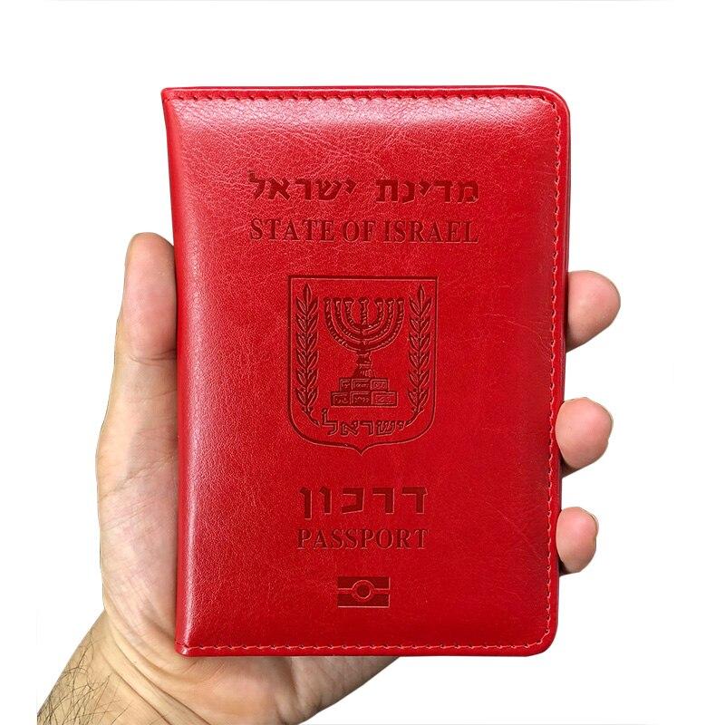 Hot Cute Pu Leather Israel Passport Cover Israeli Cover On The Passport Israelis Passport Case Travel Passport Holder Men Womens